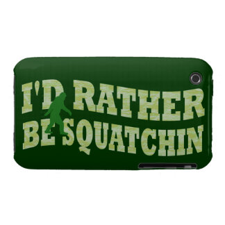 I d rather be squatchin iPhone 3 case