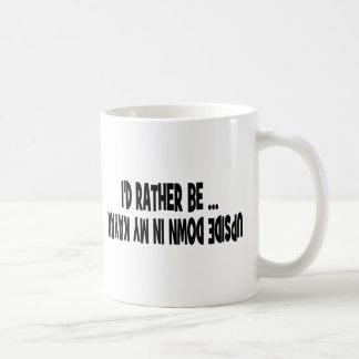 I d Rather Be Upside Down Coffee Mug