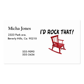 I d Rock That Rocking Chair Business Card Templates