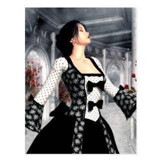 I Dance Alone Gothic Romance Art Postcard