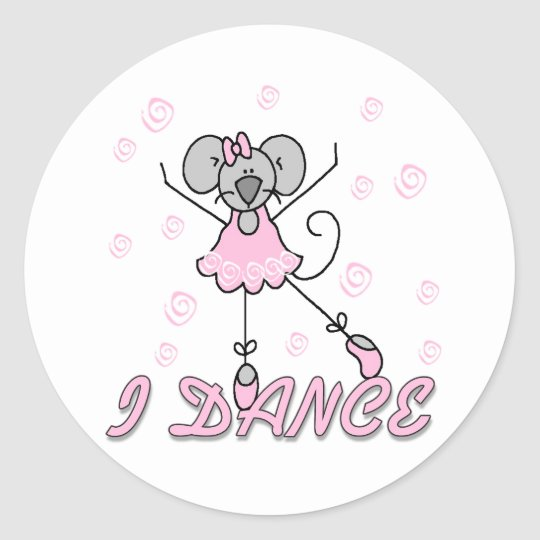 I Dance Mouse Ballet Sticker