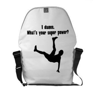 I Dance What s Your Super Power Courier Bag