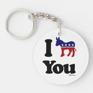 I Democrat You Double-Sided Round Acrylic Key Ring