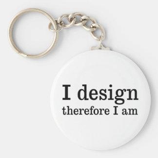 I Design Basic Round Button Key Ring