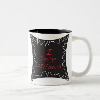 i design pillows Two-Tone mug