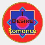 I Desire Romance Stickers