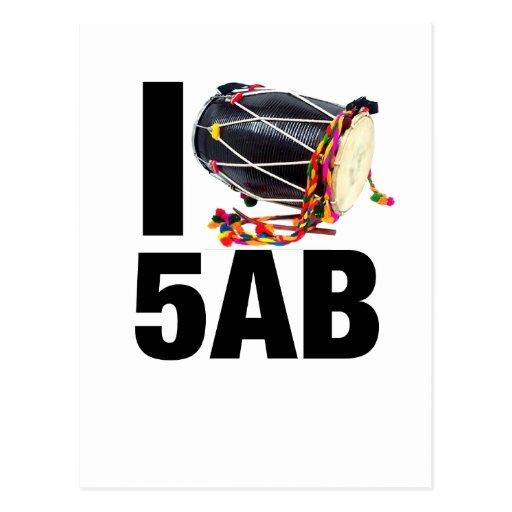 I ( Dhol ) 5AB Postcards