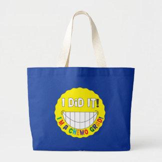I Did It!  I am a Chemo Grad Tote Bags