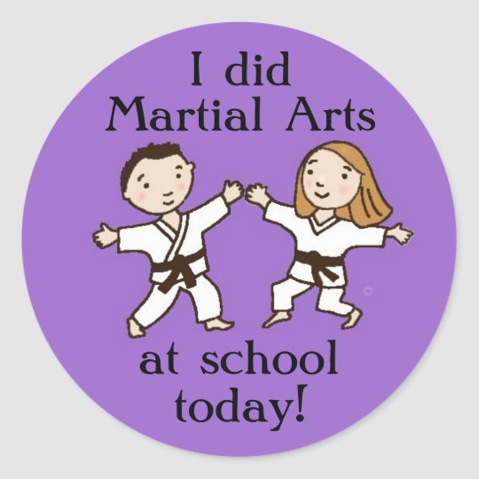 I did Martial Arts at School Today stickers