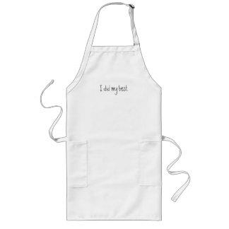 I did my best long apron