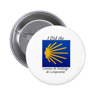 I Did the Camino de Santiago 6 Cm Round Badge