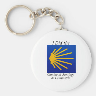 I Did the Camino de Santiago Basic Round Button Key Ring