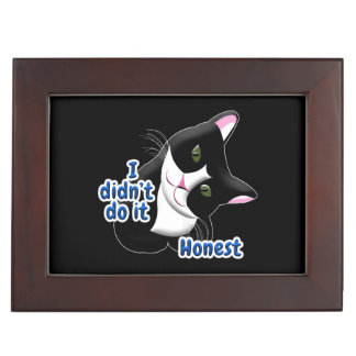 I didn't do it Cat Keepsake Box
