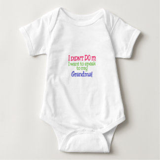 I Didnt Do It! Grandma! Baby Bodysuit