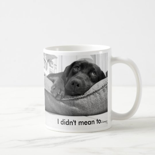 I didn't mean to. coffee mug