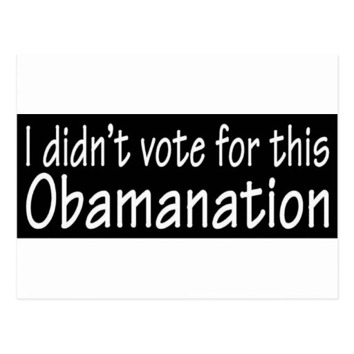 I didn't vote for this Obamanation! Postcards