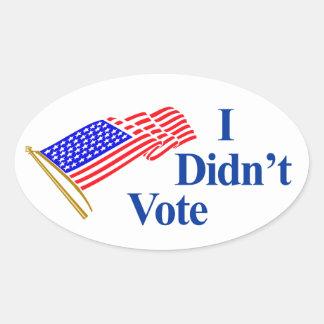 I didn't vote oval sticker