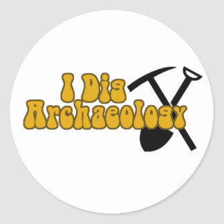I Dig Archaeology Classic Round Sticker