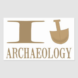 I Dig Archaeology Stickers