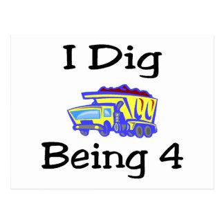 I Dig Being 4 Postcards