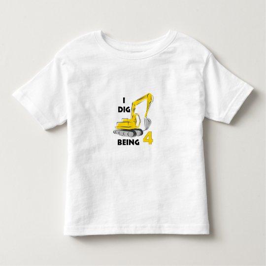 I dig being 4 toddler T-Shirt