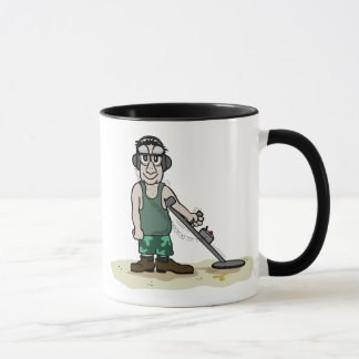 I Dig Booty Metal Detecting Guy Mug