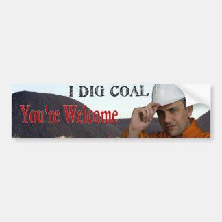 I Dig Coal Bumper Stickers
