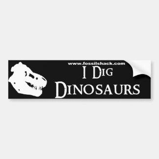 I Dig Dinosaurs Bumper Sticker