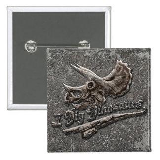 I Dig Dinosaurs Triceratops Skull Pins