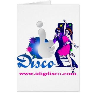 I Dig Disco Disco Lights Card