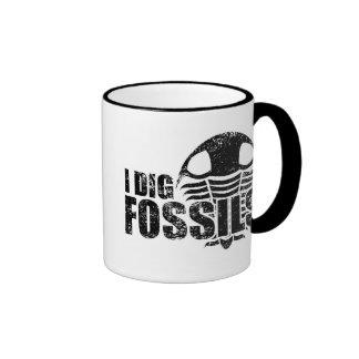 I DIG FOSSILS Trilobite Ringer Coffee Mug