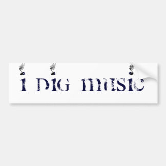 I DIg Music Winged Bumper Sticker