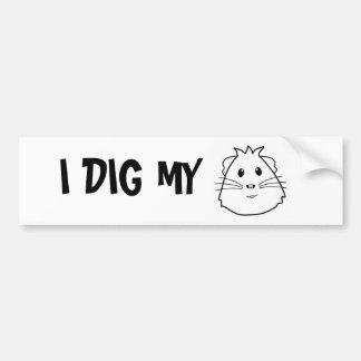 I dig my pig car bumper sticker