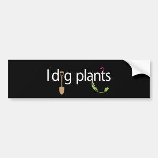 I Dig Plants Bumper Stickers