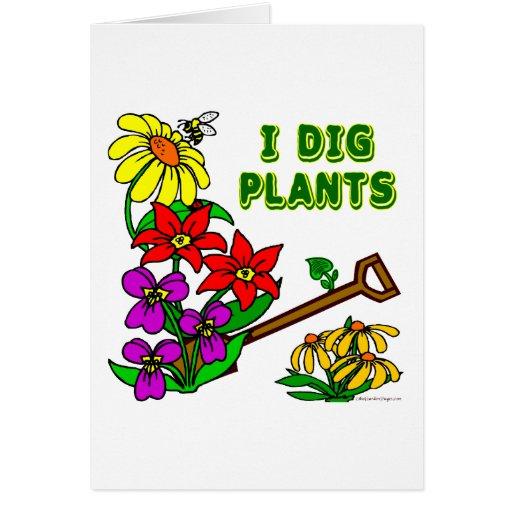 I Dig Plants Gardener Saying Cards
