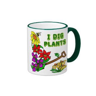 I Dig Plants Gardener Saying Ringer Mug