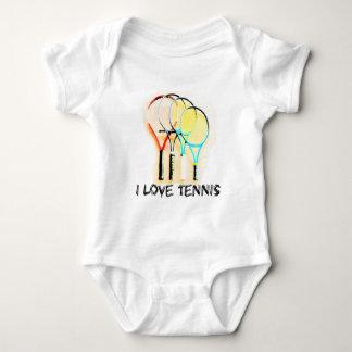 I Dig Tennis Beautiful Racket Baby Bodysuit