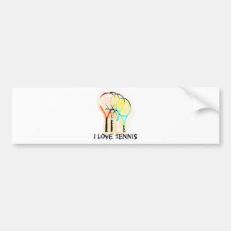 I Dig Tennis Beautiful Racket Bumper Sticker