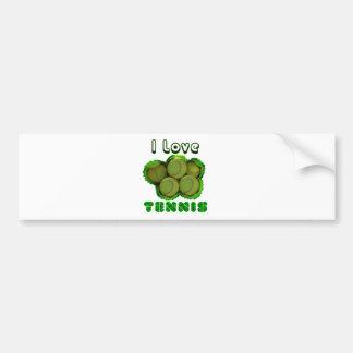 I Dig Tennis Grand Slam Bumper Sticker