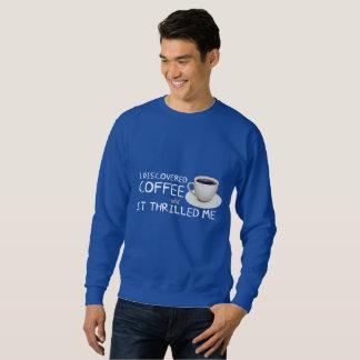"""I Discovered Coffee"" Men's Basic Sweatshirt"