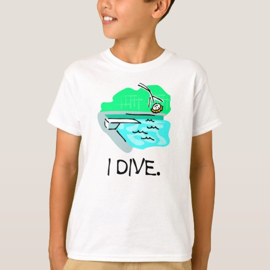 I Dive Stick Figure T-shirts