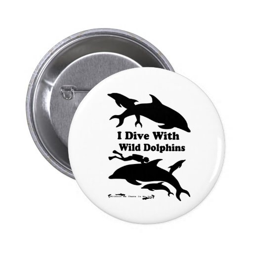 I Dive with Wild Dolphins Button