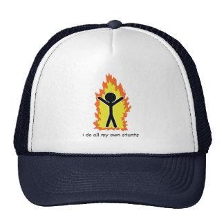 I do all my own stunts hats