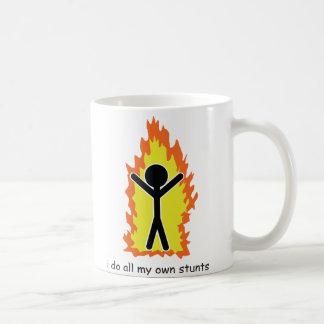I do all my own stunts coffee mugs