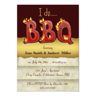 I do barbecue party invitations