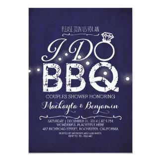 I do BBQ couples shower invitation NAVY