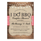 I DO BBQ Couples Showers Rustic Lights Invite