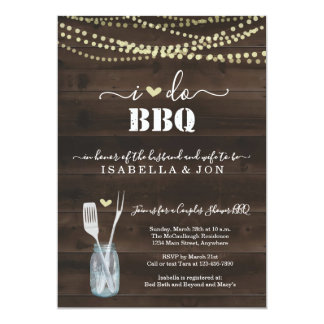 I Do BBQ Couples Wedding Bridal Shower Engagement Card