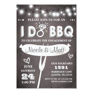 I Do BBQ Engagement Party Invitation Rehearsal