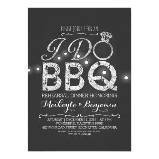 I do BBQ rehearsal dinner invitation